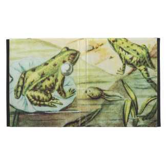 Green Frogs, Animal Illustration iPad Folio Cases