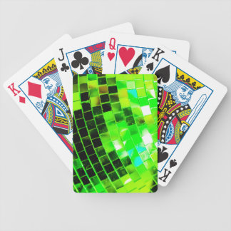 Green Funky Disco Ball Poker Deck