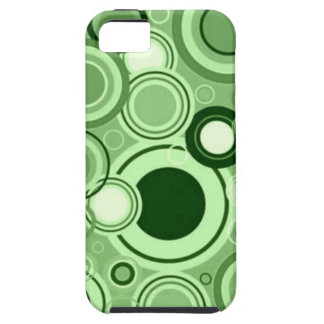 Green Funky Retro Circles Pattern iPhone 5 Cases