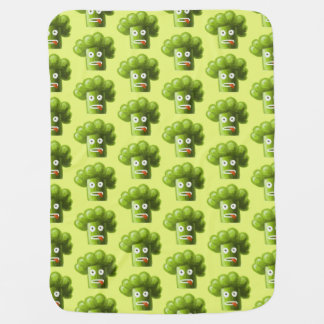 Green Funny Cartoon Broccoli Pattern Baby Blanket