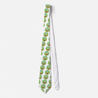 Green funny monster tie