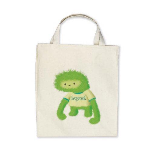 Green Furry Monster Bag