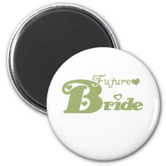 Green Future Bride 6 Cm Round Magnet
