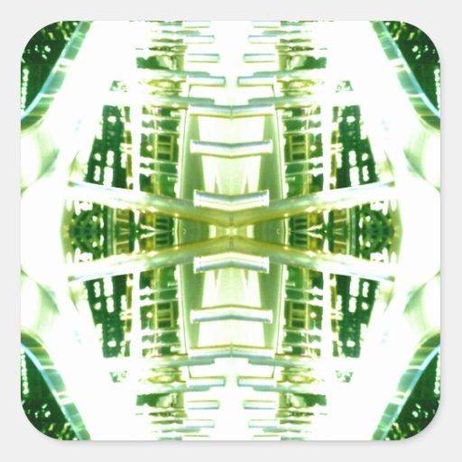 Green Futuristic Light Groove Sticker