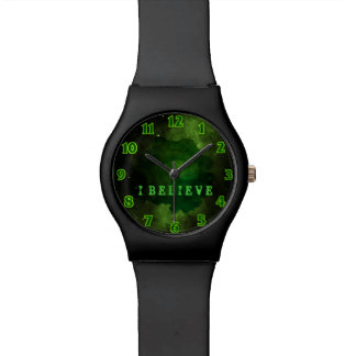 Green Galaxy Cosmos Watch