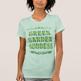 Green Garden Goddess Saying Tee Shirt