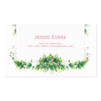 Green Garden Mommy Calling Card Business Card Templates