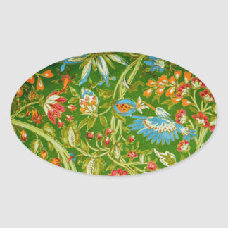 Green Garden Oval Sticker