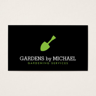 Green Garden Shovel Gardening Landscaping Services Business Card
