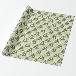 Green Garden Triquetra Pagan Wrapping Paper