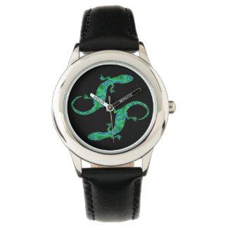 Green Gecko Wrist Watches