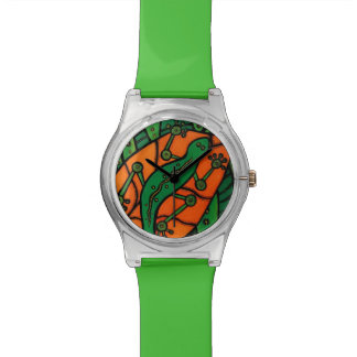 Green Gecko Wrist Watches