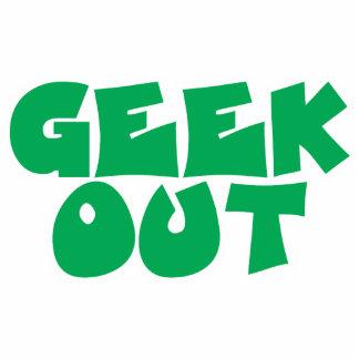 Green Geek Out Text Design Photo Sculpture Decoration