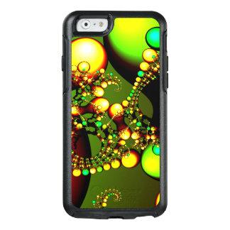 Green Gene Fractal Alien Life Mutate Yellow Drops OtterBox iPhone 6/6s Case