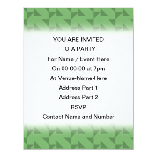 Green Geometric Abstract Pattern. 11 Cm X 14 Cm Invitation Card