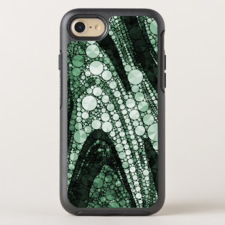 Green Geometric Abstract Triangles and Circles OtterBox Symmetry iPhone 8/7 Case