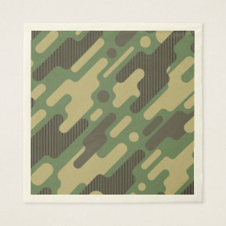 Green Geometric Camouflage. Camo your Paper Napkins