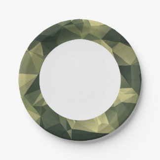 Green Geometric Camouflage. Camo your Paper Plate