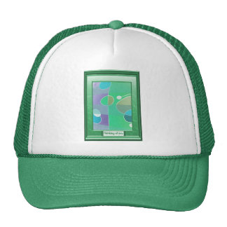 Green geometric cap