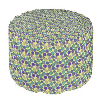 Green Geometric Confetti Party Ottoman Polka Dot