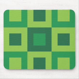 Green Geometric Cool Shape Pattern Mouse Pads