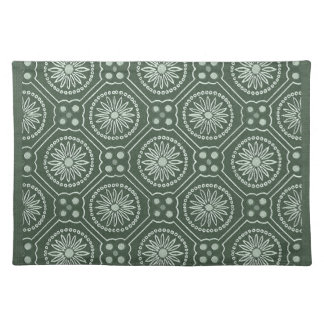 Green Geometric   Design Mojo Place Mat