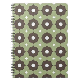 Green Geometric Notebook