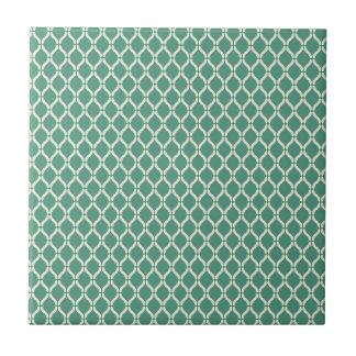 Green Geometric Pattern Ceramic Tile