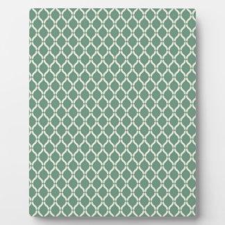 Green Geometric Pattern Plaque