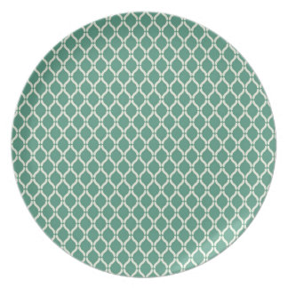 Green Geometric Pattern Plate