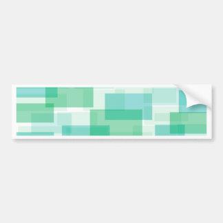 Green geometrical squares pattern bumper sticker