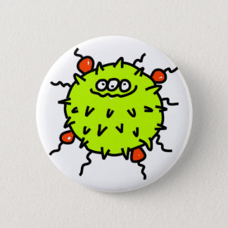 Green Germ 6 Cm Round Badge