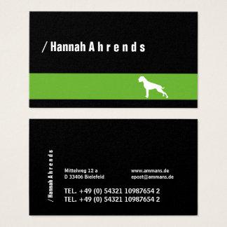 Green German Boxer Business Card