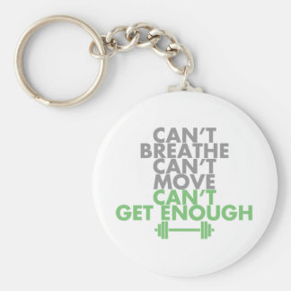 "Green ""Get Enough"" Basic Round Button Key Ring"