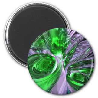 Green Ghost Abstract Magnet