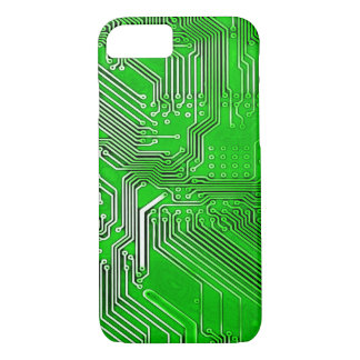 Green Ghost Circuit Board Design iPhone 7 Case