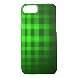 Green Ghost Tartan Pattern iPhone 7 Case