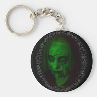 Green Ghoul Round Keychain