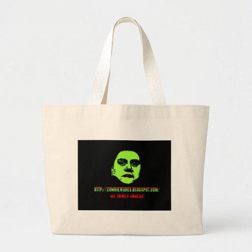 Green Ghoul -ZOMBIEWARES.Blogspot.Com Tote Bags
