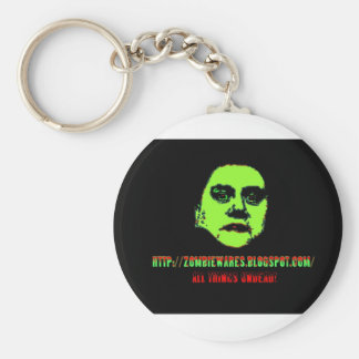 Green Ghoul -ZOMBIEWARES.Blogspot.Com Basic Round Button Key Ring