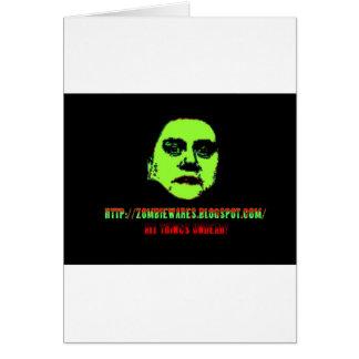 Green Ghoul -ZOMBIEWARES Blogspot Com Greeting Card