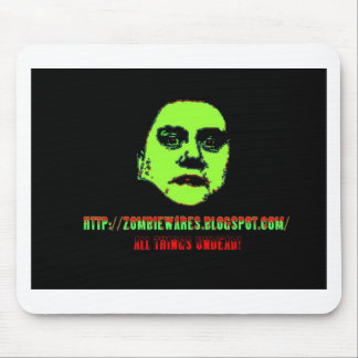 Green Ghoul -ZOMBIEWARES Blogspot Com Mouse Pads