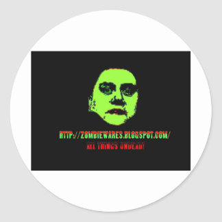 Green Ghoul -ZOMBIEWARES Blogspot Com Stickers