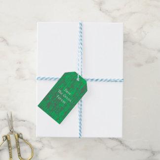 Green Gift Tag