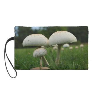 Green Gill Mushroom Wristlet