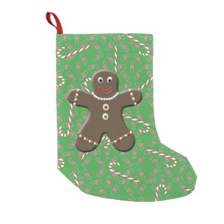 Green Gingerbread Man Christmas Candy Canes