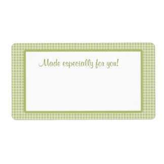 Green Gingham Label