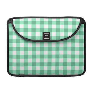 Green Gingham Pattern Sleeve For MacBook Pro