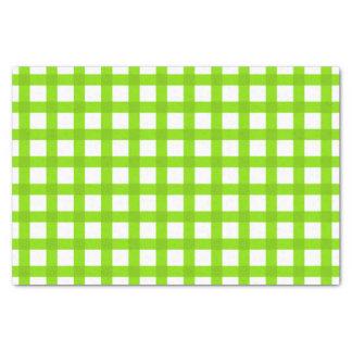 Green Gingham Pattern Tissue Paper
