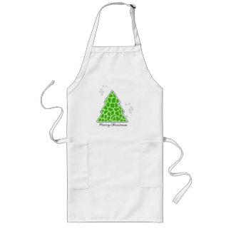 Green giraffe Christmas Tree Long Apron